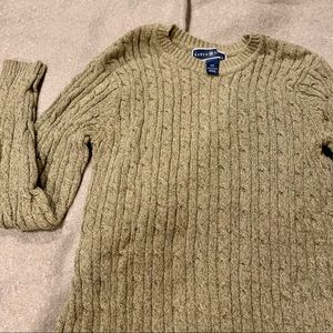 Heathered knit sweater